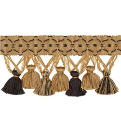 "Jaclyn Smith 2.75"" 01874 Tassel Fringe Black/Gold"