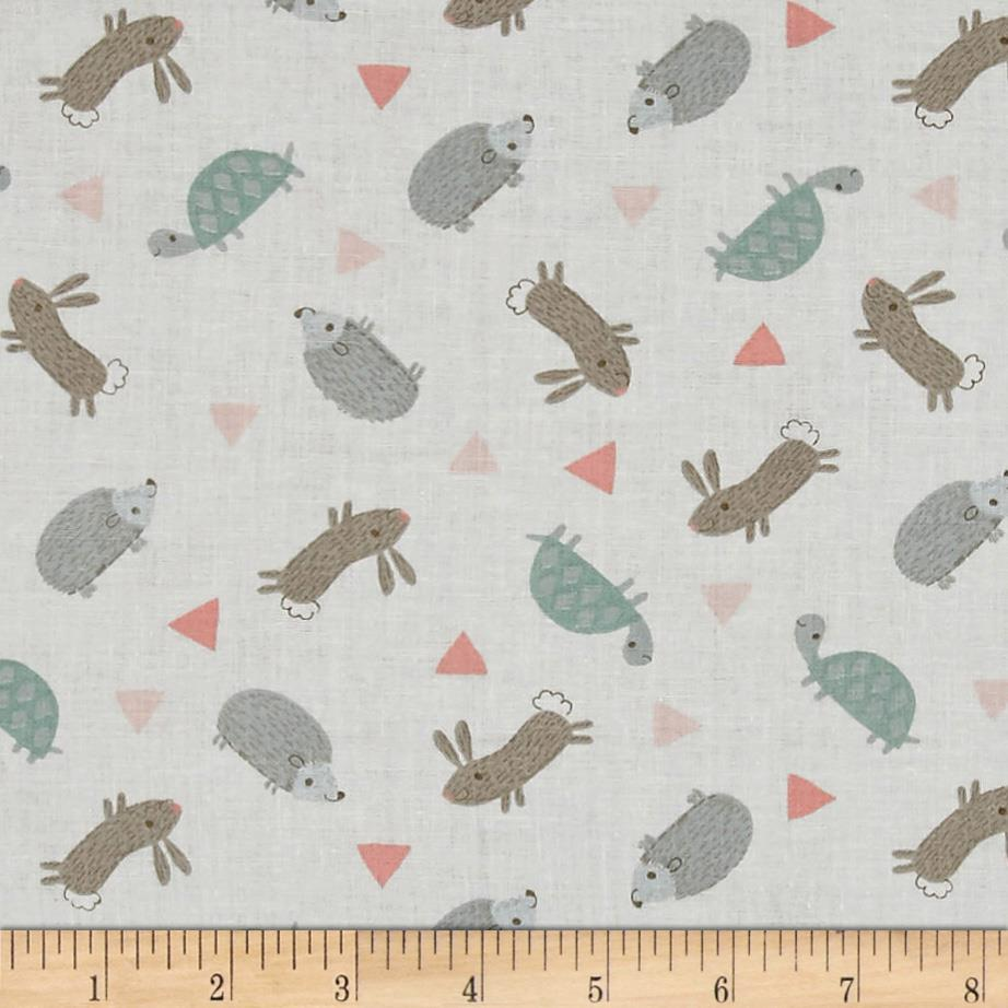 Little Ones Small Tossed Critters Light Gray