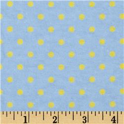 Aunt Polly's Flannel Small Polka Dot Blue/Yellow