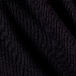 2x1 Cotton Rib Knit Black