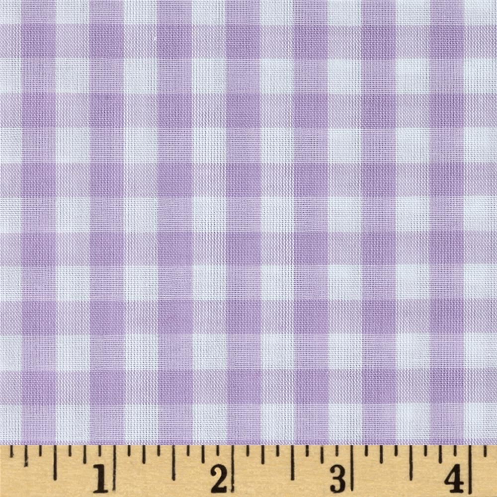 "Woven 1/4"" Gingham Lilac"
