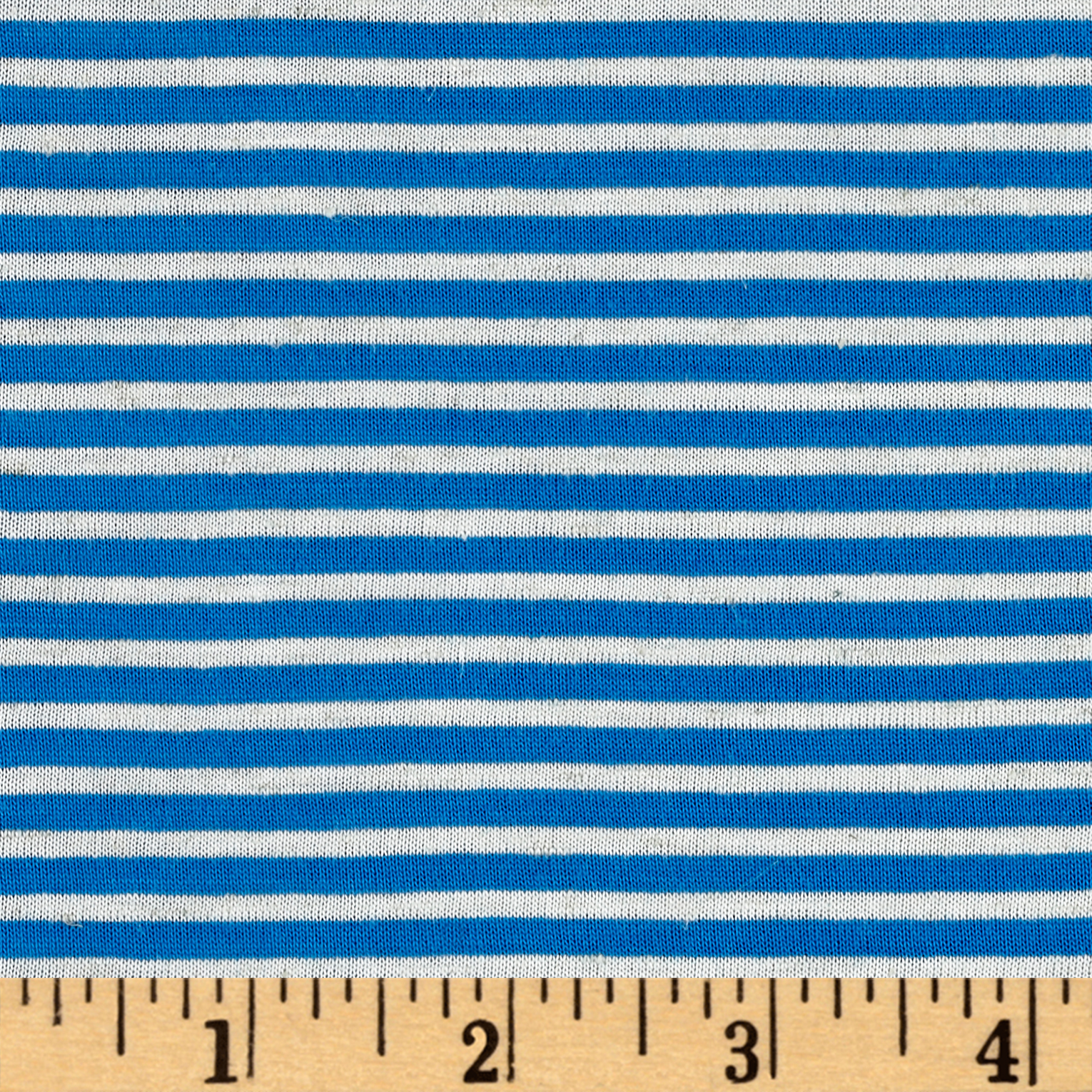 Rayon Spandex Jersey Stripe Turquoise/Light Gray Fabric by Mike Cannety in USA