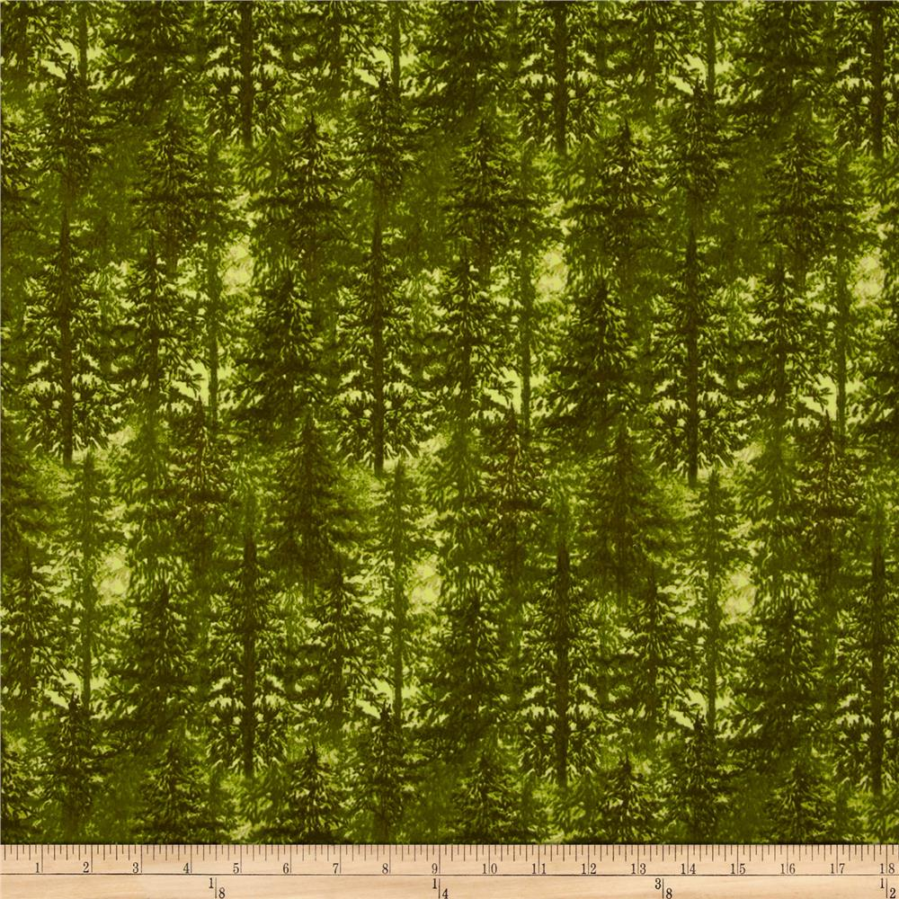 Timber Lodge Flannel Trees In The Forest Moss