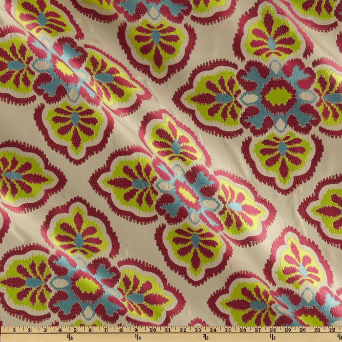 Claridge Mulberry Jacquard Pink Glow Fabric