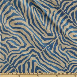 Claridge Zebra Jacquard Azul Blue