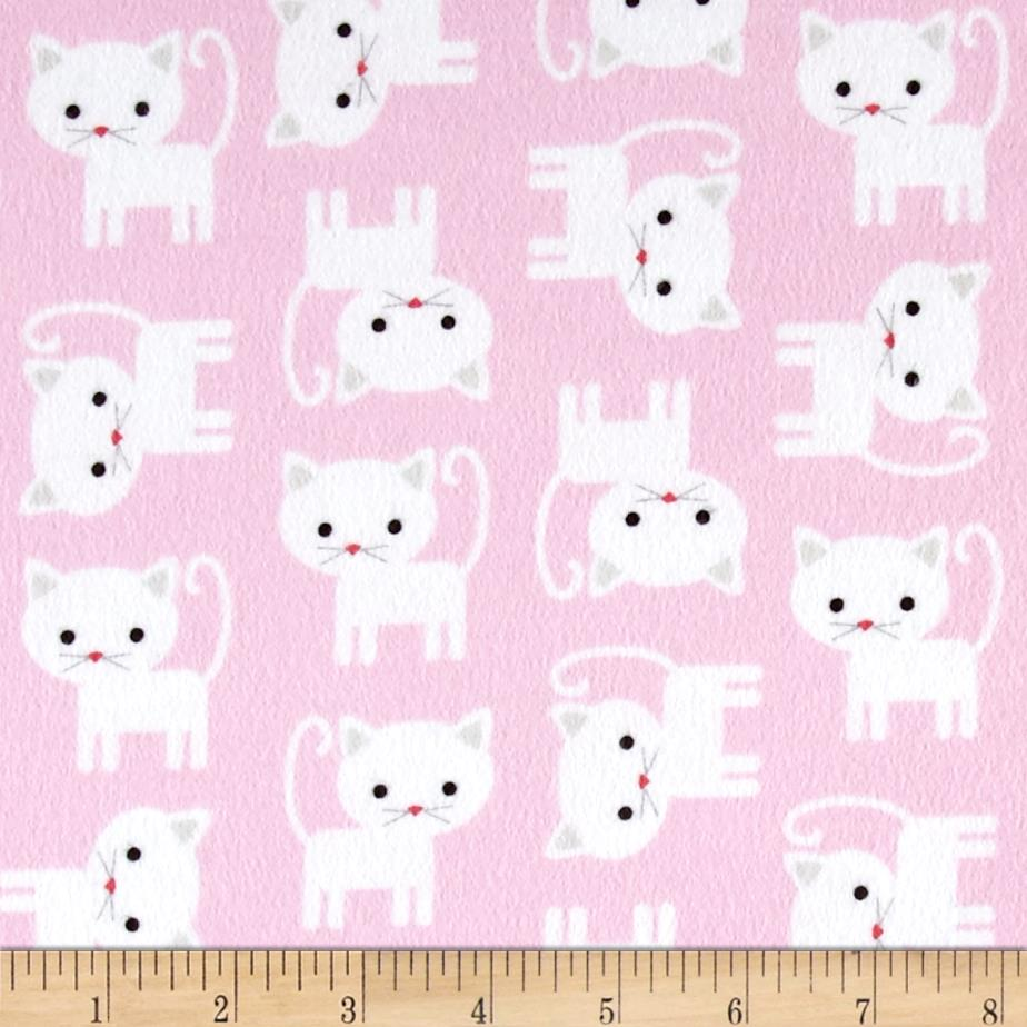 Kaufman urban zoologie flannel cats baby pink discount for Cheap baby fabric