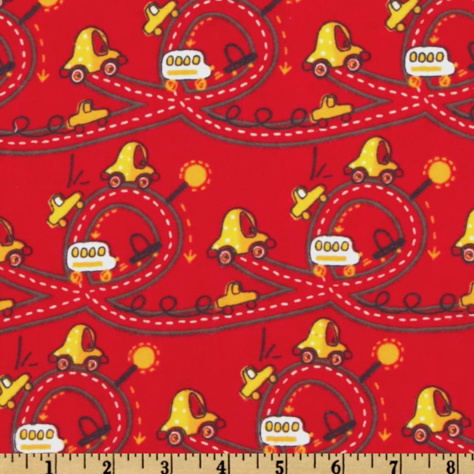 Camelot Flannel Cars Red