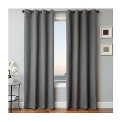 Sunbrella 96'' Solid Grommet Outdoor Panel Charcoal