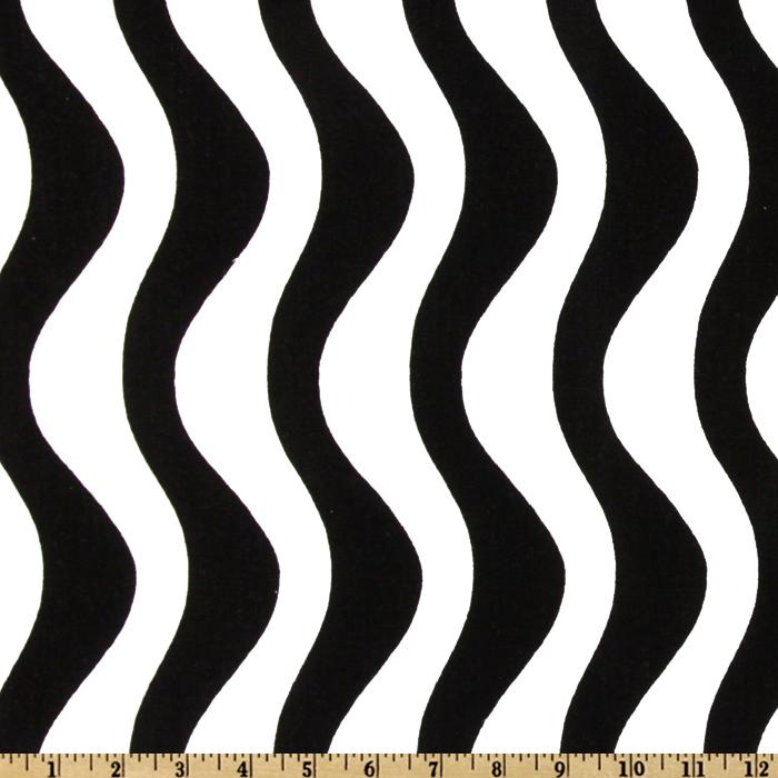 Premier Prints Waves Black/White