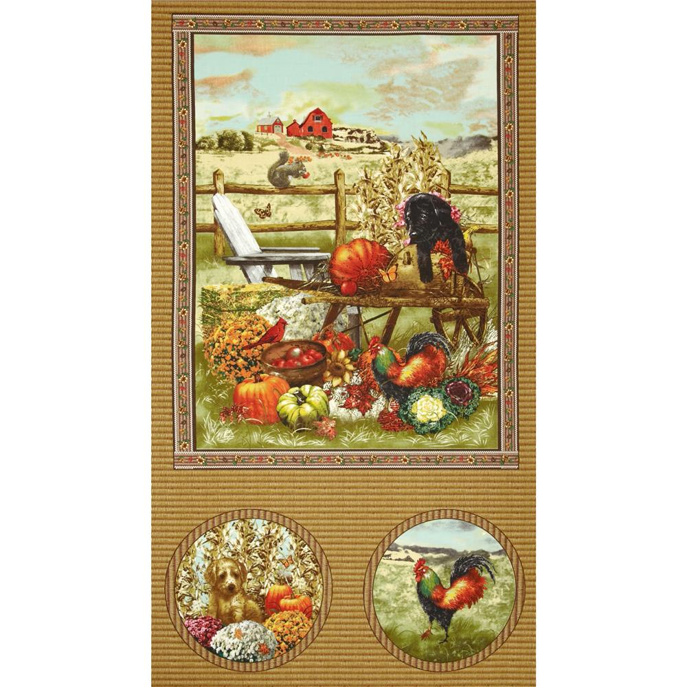 Autumn Bounty 24'' Panel Multi