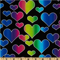 Tossed Hearts Multi/Black