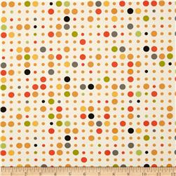 Moda Reel Time Dots Chalk/Citrus
