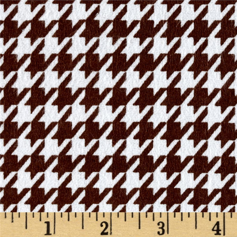 Flannel Houndstooth Brown