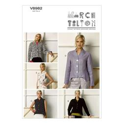 Vogue Misses' Jacket and Vest Pattern V8982 Size B50