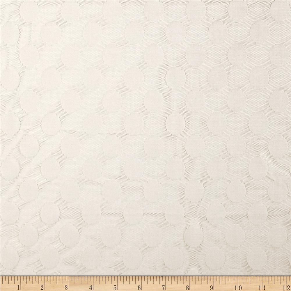 Jacquard Large Dot Lace White