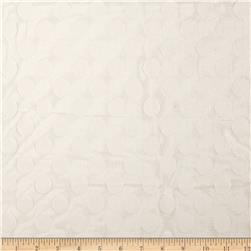 Jacquard Large Dot Lace White Fabric