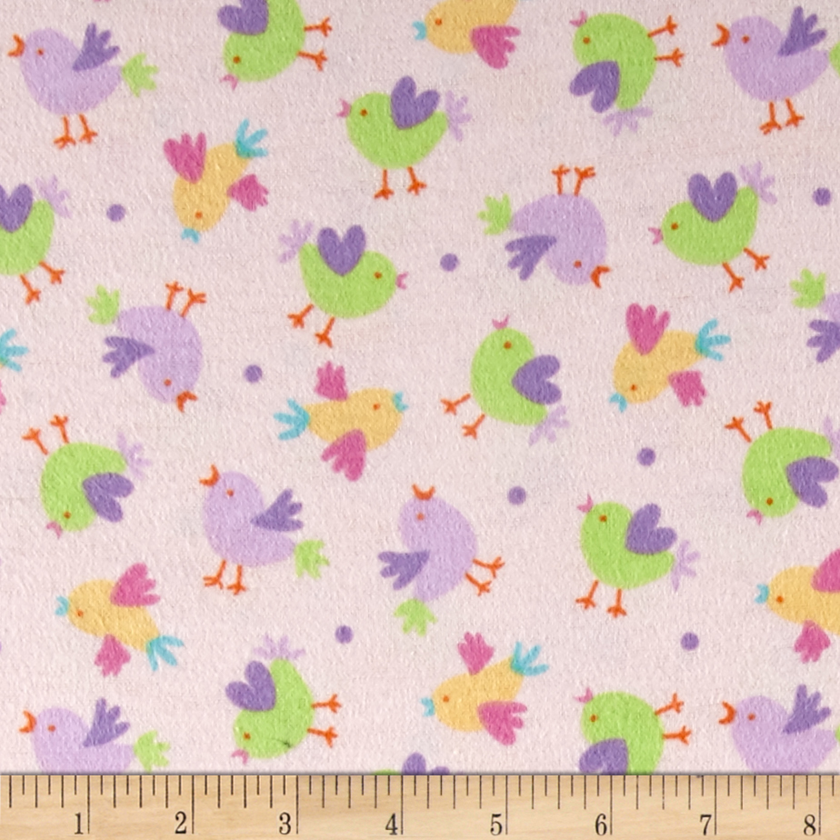 Chicks Flannel Pink Fabric by Newcastle in USA