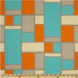 Premier Prints Hopscotch Mandarin/Natural Fabric