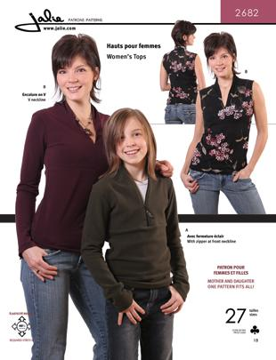 Jalie V-Neck Top Pattern
