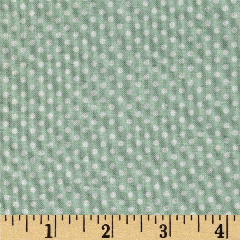 Spring Showers Dots Green/Ivory