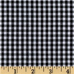 "Richcheck 60"" Gingham Check 1/8"" Black"