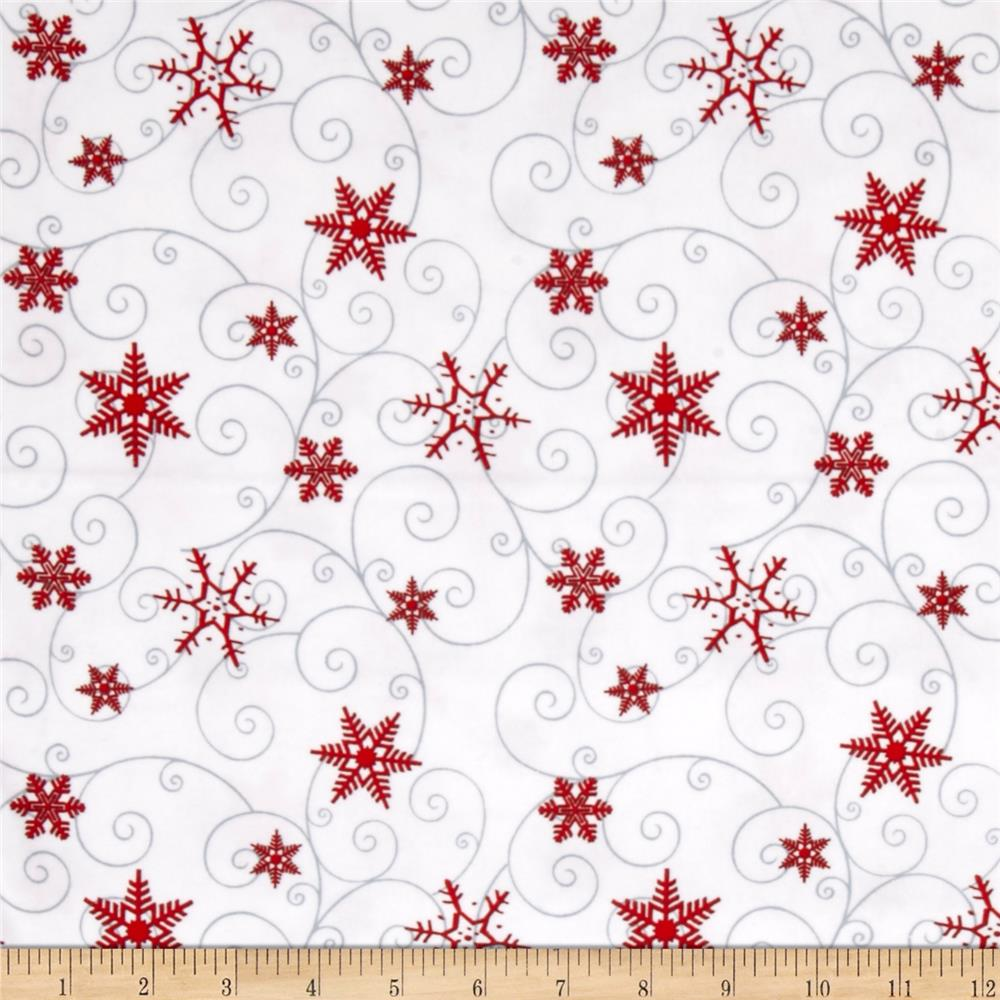 Arctic Antics Flannel Swirl White/Red