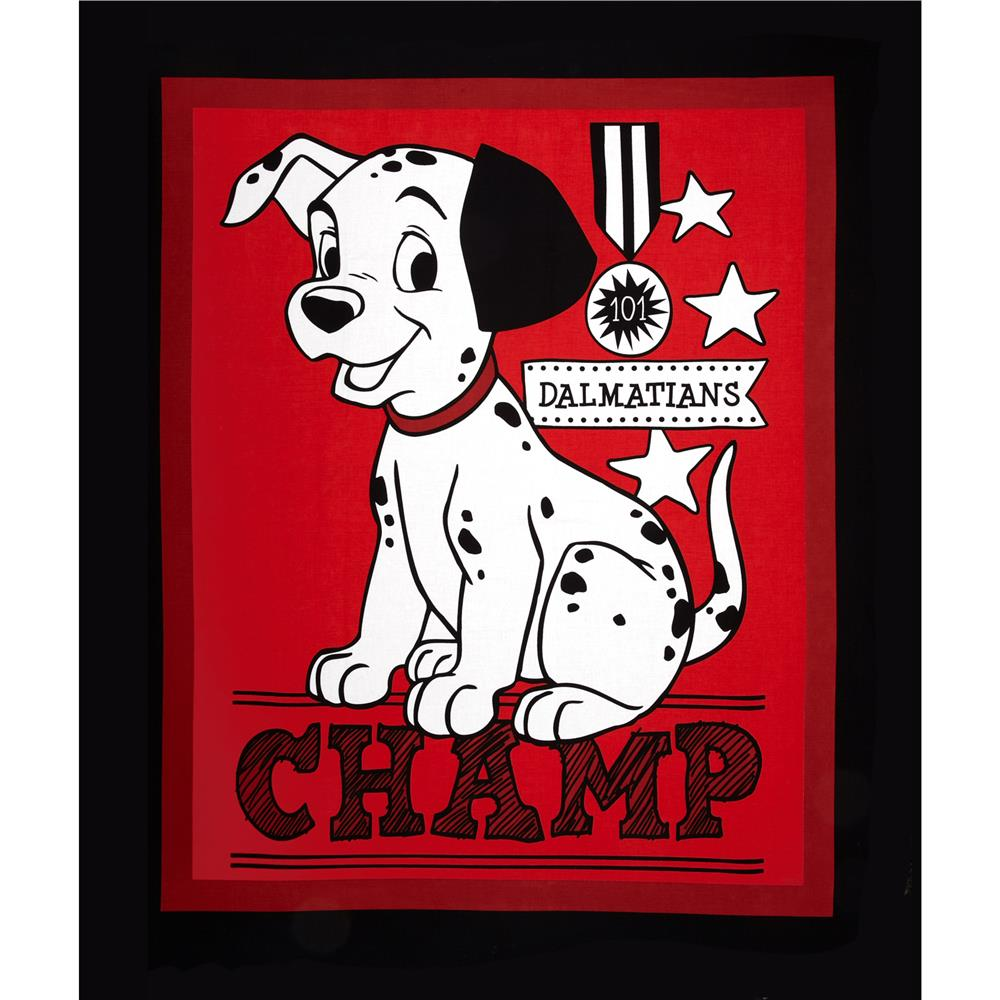 Disney Dalmatians Champ Panel Red