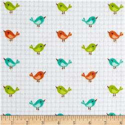 Jungle Jubilee Flannel Birds Grey