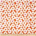 Cotton + Steel Trinket Double Gauze Happy Garden Tangerine