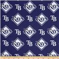 MLB Cotton Broadcloth Tampa Bay Rays Blue/White