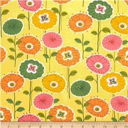 Gramercy Bright Floral Yellow Fabric