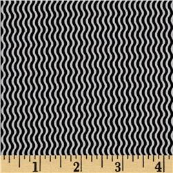 Sketchbook Wavy Stripe Black