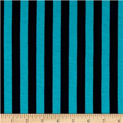 Fashion Jersey Knit Stripe Turquoise
