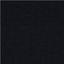 Stonewashed Linen Black Fabric