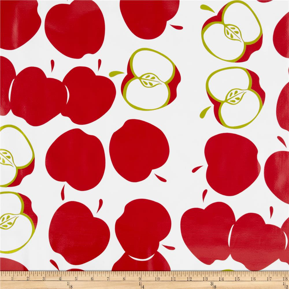 Oilcloth Solvang Red Fabric