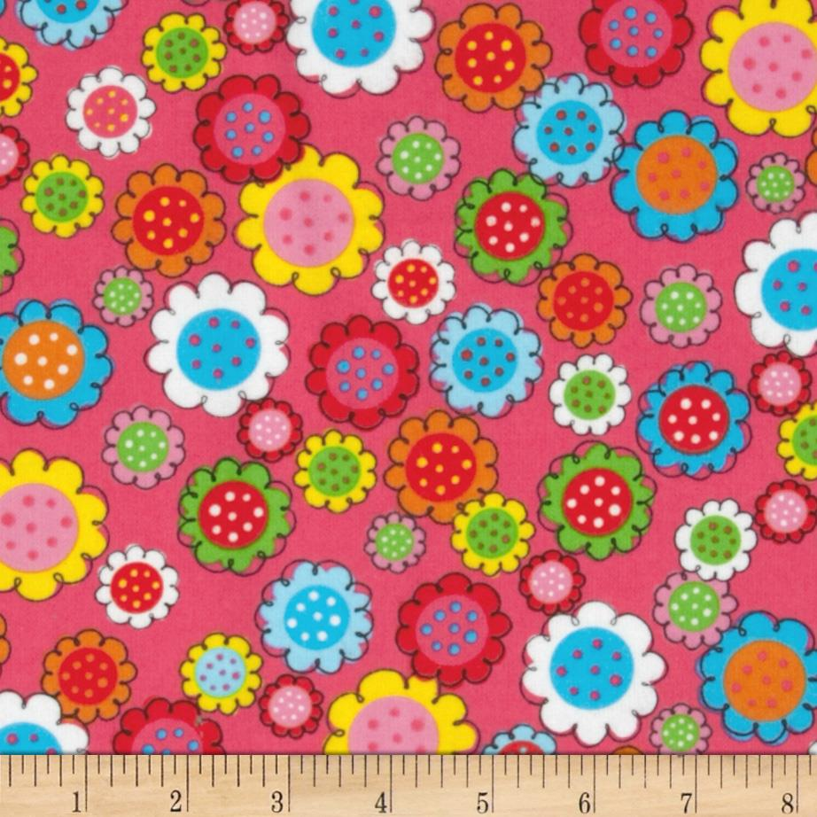 Flannel Sunflowers Pink
