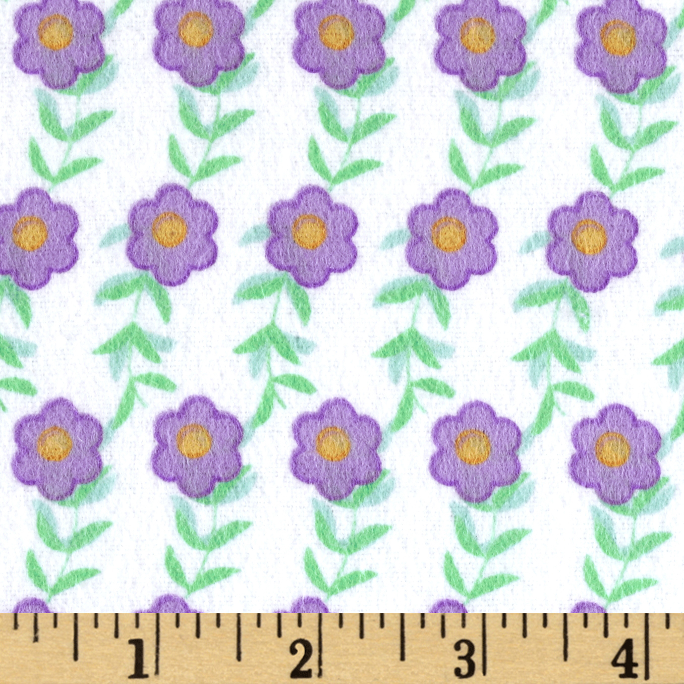 Birds Paradise Flannel Stripe Lavender Fabric