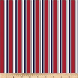 Riley Blake Speedster Sporty Stripes Red Fabric