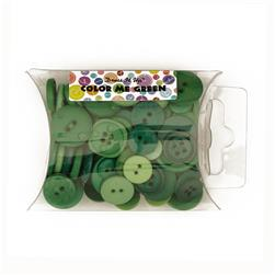 Dress It Up Color Me Collection Pillow Pack Buttons Green
