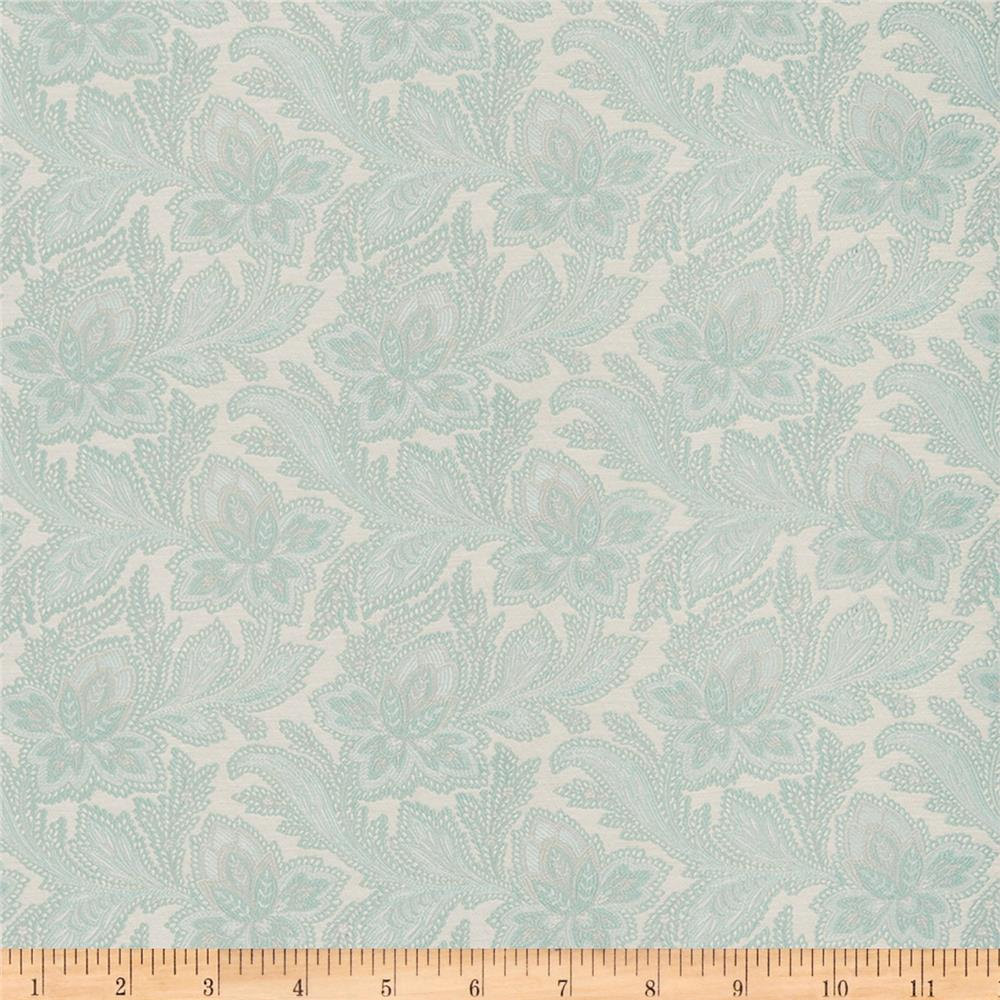 French General Jacobean Floral Jacquard La Mer