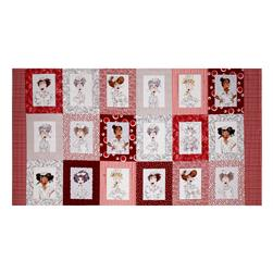 "Loralie Designs Nifty Nurses 23.5"" Panel Red"