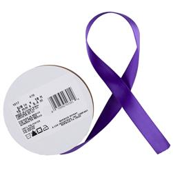 "5/8"" Offray Single Face Satin Ribbon Purple"