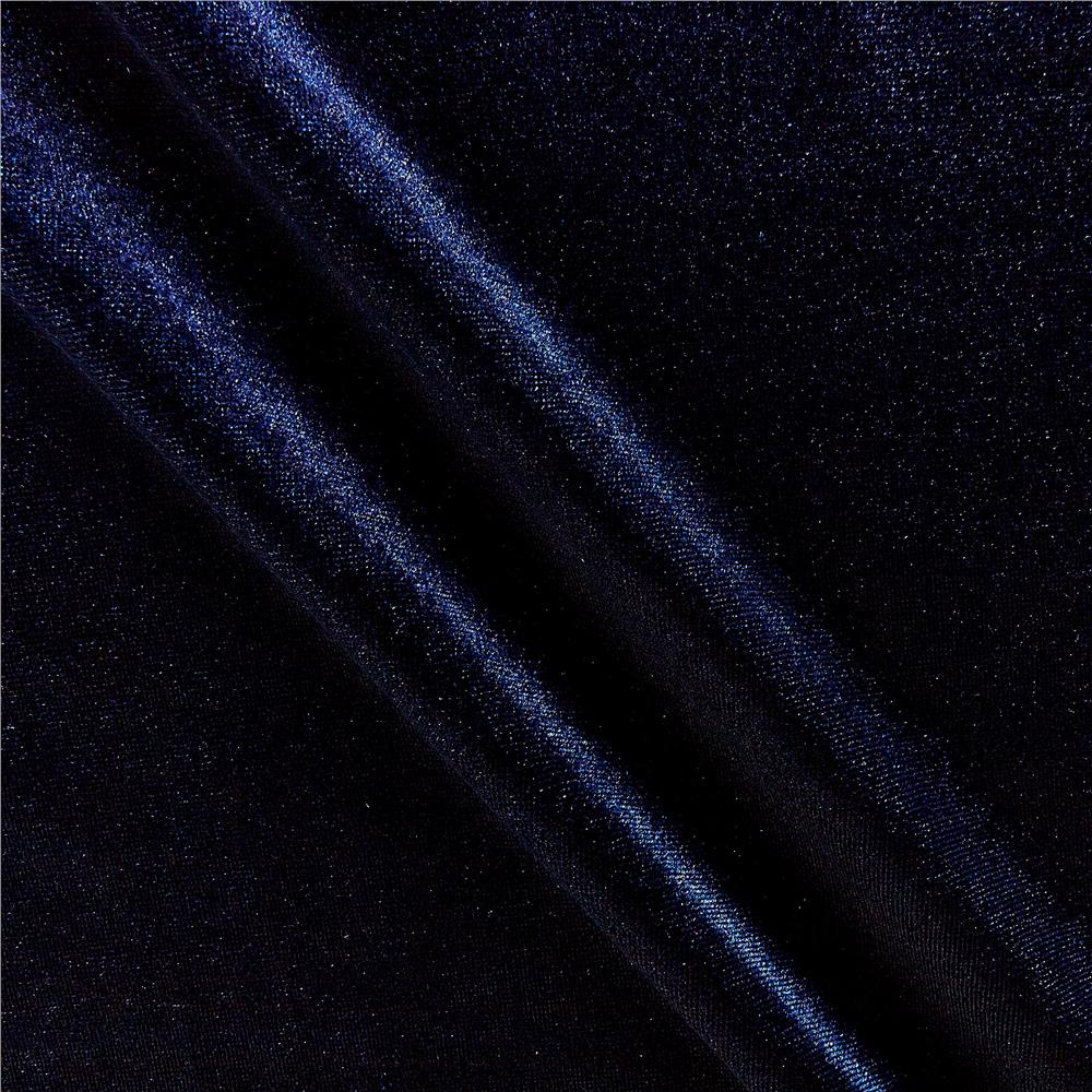 Fabric merchants stretch velvet navy discount designer for Velvet fabric