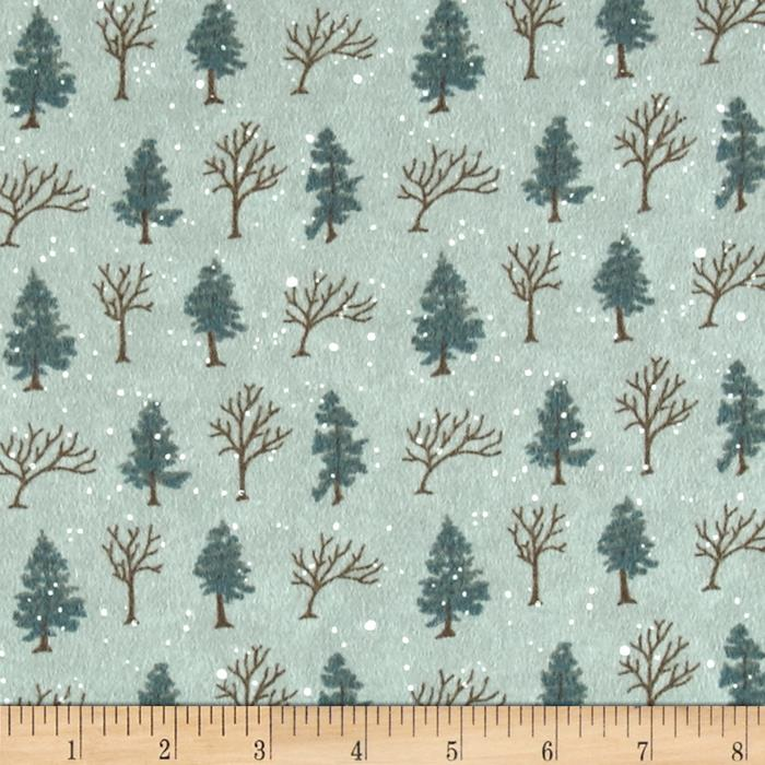 Moda Winter Forest Flannel Trees Eucalyptus Discount