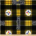 NFL Fleece Pittsburgh Steelers Plaid Black/Yellow