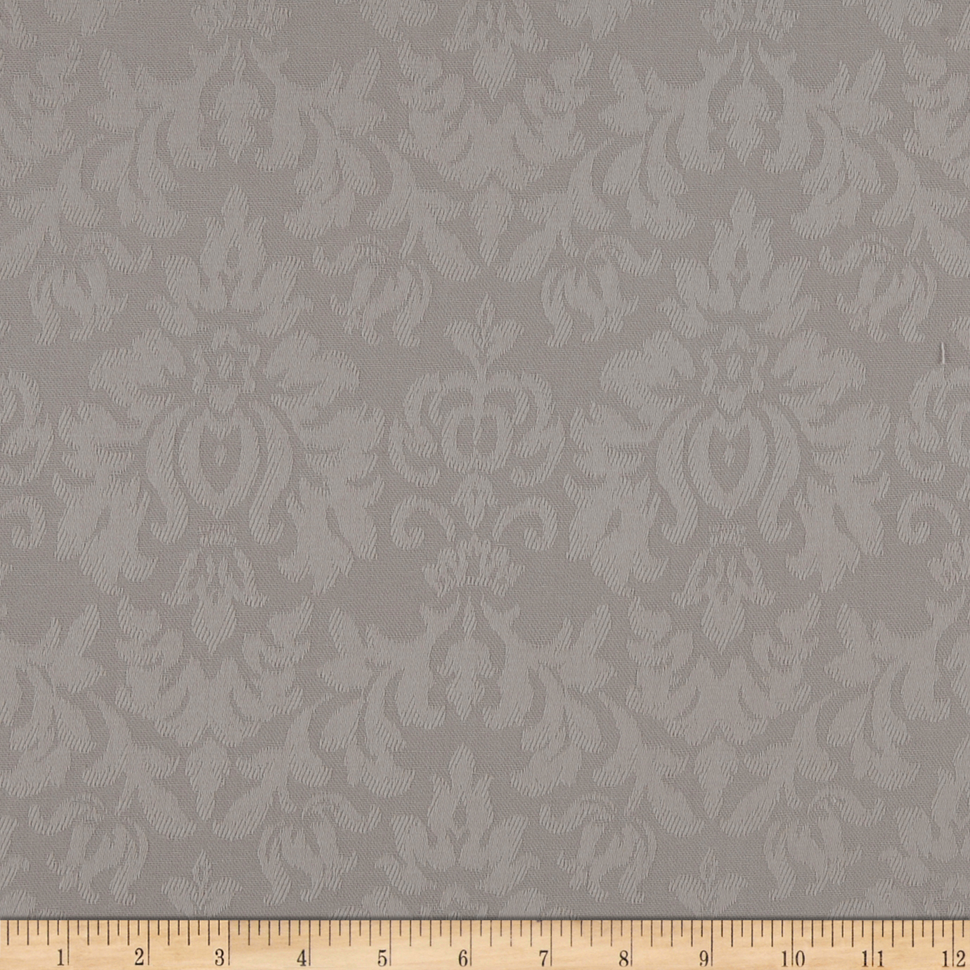 USA Ansley Home Decor Cotton Jacquard Solid Taupe Fabric