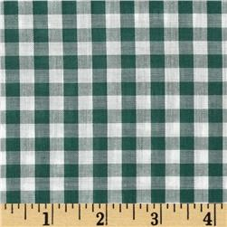 Gingham 1/4'' Checks Galore Green Fabric