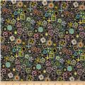 Cha Cha Small Packed Floral Black