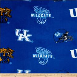 Collegiate Fleece University of Kentucky Blue Fabric