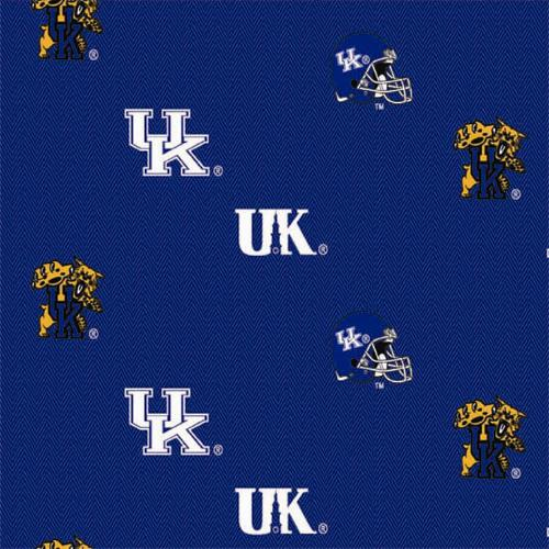 Collegiate Cotton Broadcloth University of Kentucky Allover Blue